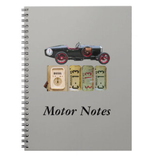 Black and Red Vintage Car Notebook