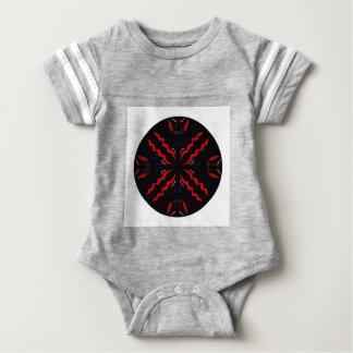 Black and red Vintage mandala Baby Bodysuit