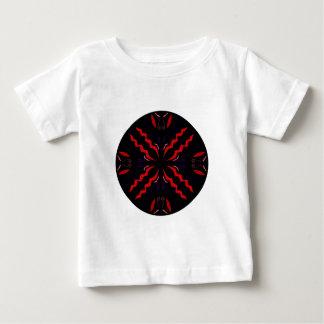 Black and red Vintage mandala Baby T-Shirt