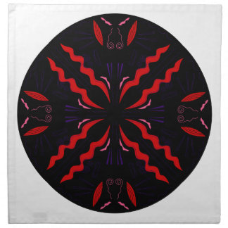Black and red Vintage mandala Napkin