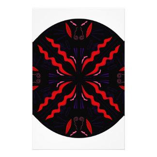 Black and red Vintage mandala Stationery