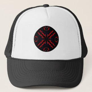 Black and red Vintage mandala Trucker Hat