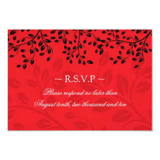Black and Red Wedding Reply Cards