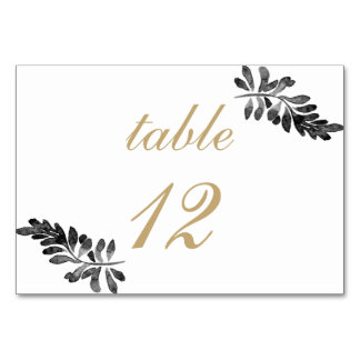 Black and Rose Gold Watercolor Floral Wedding Card