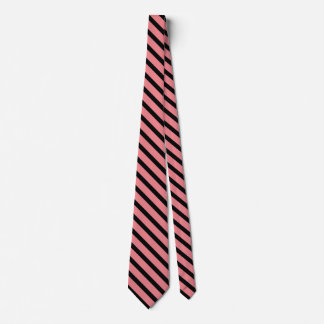 black and salmon color pattern tie