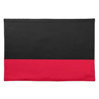 Black and Scarlet Placemat