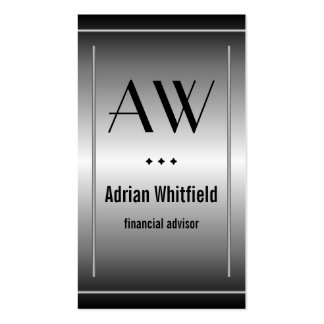 Black and Silver Bars Vertical Accountant Business Card
