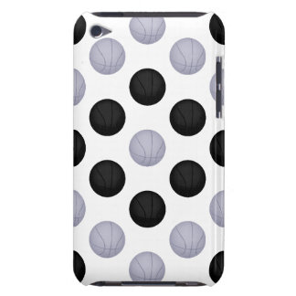 Black and Silver Basketball Pattern Barely There iPod Cases