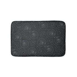 Black and silver bath mat