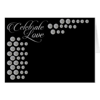 Black and silver elegant  celebrate love template greeting card