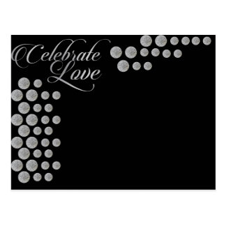 Black and silver elegant  celebrate love template postcard