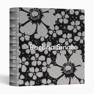 Black And Silver Embossed  Personalized Binder
