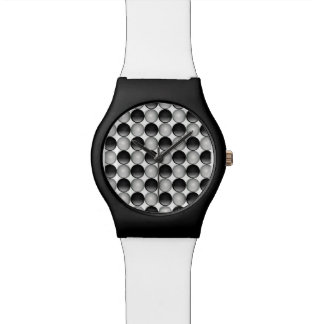 Black and Silver Face Watch
