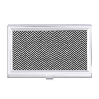 Black and Silver Faux Glitter Elegant Pattern Business Card Holder