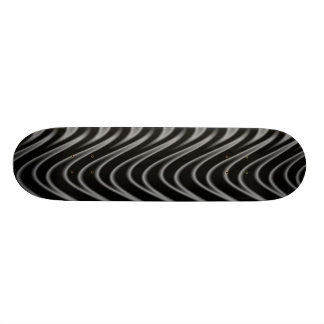 Black and Silver Flames Skateboard