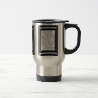 Black And Silver Frame Photo Travel Mug