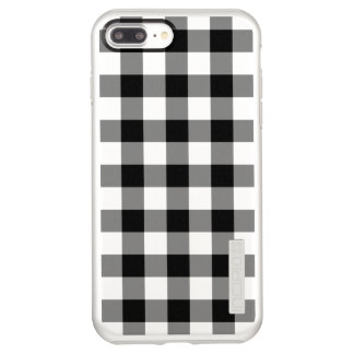 Black and Silver Gingham Pattern Incipio DualPro Shine iPhone 8 Plus/7 Plus Case
