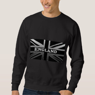Black and Silver Grey Union Jack Flag Cases Sweatshirt