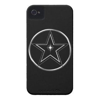 Black And Silver Pentacle Case-Mate iPhone 4 Cases