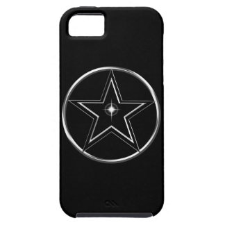Black And Silver Pentacle iPhone 5 Cases