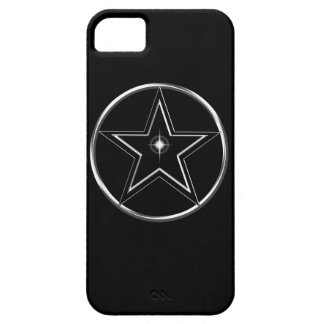 Black And Silver Pentacle iPhone 5 Covers