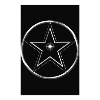 Black And Silver Pentacle Stationery Design