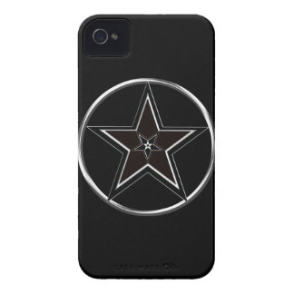 Black And Silver Pentacle with Inverted Pentagram iPhone 4 Case-Mate Case