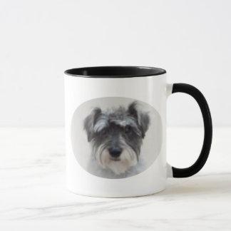 Black and Silver Schnauzer Ceramic Coffee Mug