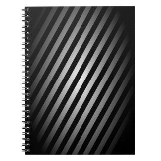 Black and Silver Striped Notepad / Journal