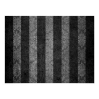 Black and Silver stripes by John Poster