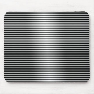 Black and Silver Stripes Mouse Pad