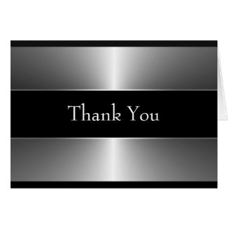 Black and Silver Thank You Cards