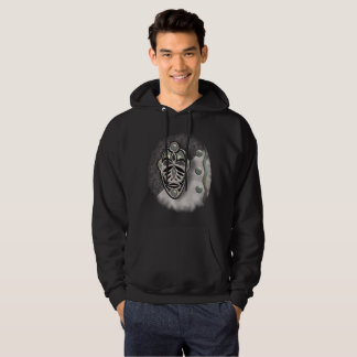 BLACK AND SIVER MASK 118 PATCH HOODIE
