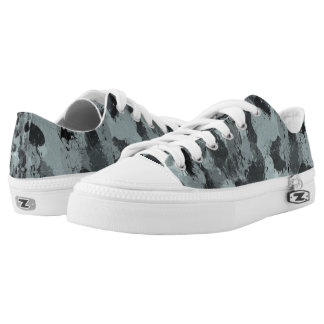 Black and Smokey Blue Pastels 3216 Low-Top Sneakers