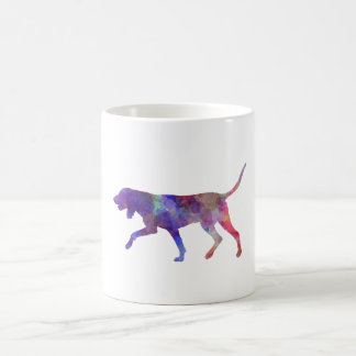 Black and So Coonhound in watercolor Coffee Mug