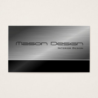 Black and Steel Modern Design Business Card