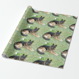 Black and Tan Alsatian Wrapping Paper