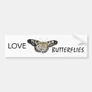 black and tan butterfly on items bumper sticker