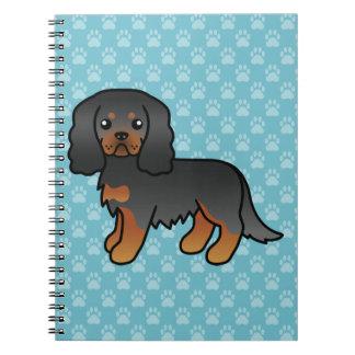 Black And Tan Cavalier King Charles Spaniel Dog Notebooks