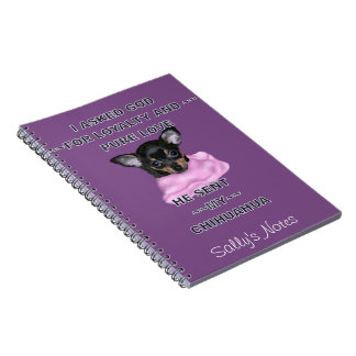 Black and Tan Chihuahua Puppy Personalized Notebooks