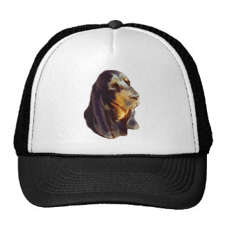 black and tan coon Hound Trucker Hat