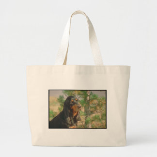 Black and Tan Coonhound Canvas Bag