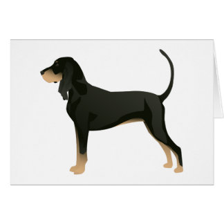 Black and Tan Coonhound Basic Breed Customizable Greeting Card