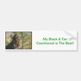 Black and Tan Coonhound Car Bumper Sticker