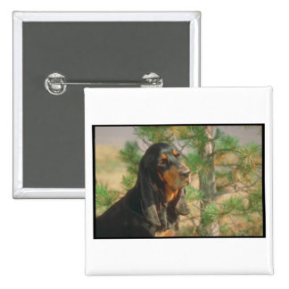 Black and Tan Coonhound Pin