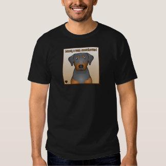 Black and Tan Coonhound Cartoon Heart Tee Shirts