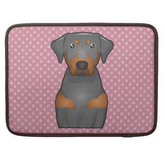 Black and Tan Coonhound Cartoon Paws Sleeve For MacBooks
