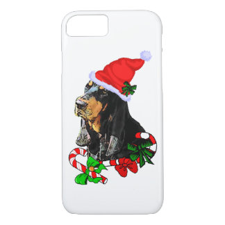 Black and Tan Coonhound Christmas iPhone 7 Case