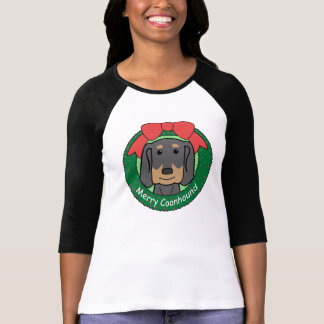 Black and Tan Coonhound Christmas T-shirts