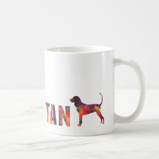 Black and Tan Coonhound Colorful Graphic Multi Mug